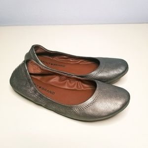 Lucky Brand Pewter Emmie Flats size 6.5